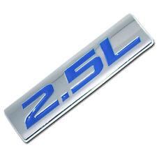CHROME/BLUE METAL 2.5L ENGINE RACE MOTOR SWAP EMBLEM BADGE FOR TRUNK HOOD DOOR