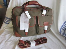 NWT - Ralph Lauren ARMY GREEN  Commuter Gents Briefcase/Messenger Bag  TWILL