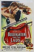 THE BULLFIGHTER AND THE LADY Movie POSTER 27x40 Robert Stack Gilbert Roland