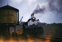 CUMBRES & TOLTEC Railroad Steam Locomotive 484 Original 1964 Photo Slide