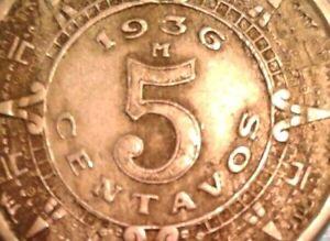 Mexico 5 Centavos coin 1936
