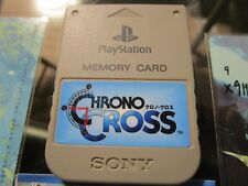 Chrono Cross PS1 Playstation 1 Official Memory Card with sticker NTSC-J UNTESTED