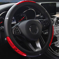 New PU Leather Car Steering Wheel Cover Breathable Anti-slip Protector 15''/38cm