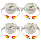 4 lot 20ft Security Camera Cable CCTV Video Power Wire BNC RCA White Cord DVR