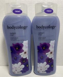 2 Bottles Bodycology Twilight Mist Moisturizing Body Wash 16 Oz Each New