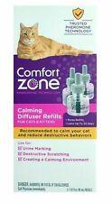 Comfort Zone Cat Kitten Calming Pheromone Diffuser Refills box of 3 Free Ship