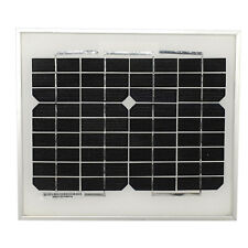 HQRP 6W 12 Volts Monocrystalline Solar Panel (Size of 5W) 6W 12V Battery Charger