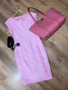 Boutique Moschino Pink Cute Button Detail Shift Dress UK 8
