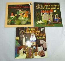 3 JAN MESSENT: Knit An Enchanted Castle Knitted Gnomes Fairies Christmas Story