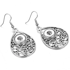 2017 DIY Alloy Silver Earring For NOOSA 12mm chunk snap button #7