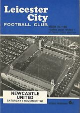 Football Programme - Leicester City v Newcastle United - Div 1 - 4/11/1967