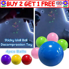 4x Sticky Wall Balls for Ceiling Stress Relief Globbles Squishy Kids Adult Toy R