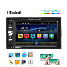 Double 2Din Car Stereo Radio MP5 Player Bluetooth FM AUX USB 6.2