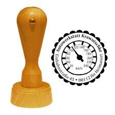 Stempel « TACHO » Tachometer Adressenstempel Firma KFZ Mechaniker Auto Werkstatt