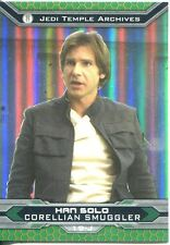 Star Wars Chrome Perspectives II Gold Parallel Base Card 19-J Han Solo