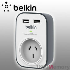 Belkin 1 Way Outlet Surge Power Protector Board Wall Mount 2 USB Ports 2.4A