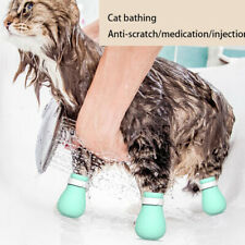 4pcs Adjustable Pet Cat Paw Protector for Bath Soft Silicone Shoes Cat Paw Ltjy