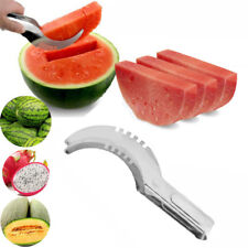 1x Watermelon Slicer Cutter Corer Server Stainless Steel Scoop Tools Fruit Knife
