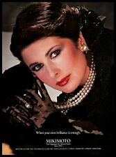 1981 Mikimoto Cultured Pearls Vintage PRINT AD Jewellery Necklace Ring Earrings