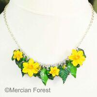 Spring Flowers Daffodil Necklace - Handmade Jewellery Polymer Clay Ostara Easter