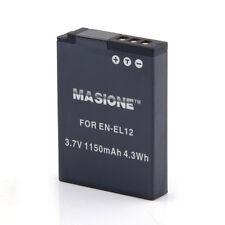 Battery for Nikon EN-EL12 Coolpix S6000 S6100 S6300 S8000 S9100 S9200 S9300