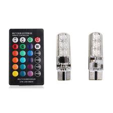 2x Remote Multicolor Led Rgb Wedge 5050 T10 Control Bulbs Car Light W5w Strobe