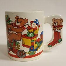 Christmas Day Toy Collage Coffee Mug Teddy Bear Red Wagon B64