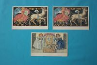 Posten 3 x alte AK Königreich Bayern Postkarten gelaufen und ungelaufen selten
