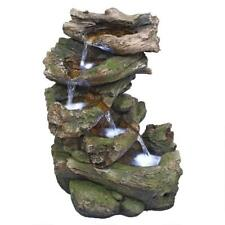 QN164053 - Mesquite Falls Illuminated Garden Fountain w/Pump & LED Lighting