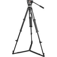 New Sachtler Ace Fluid Head 2-Stage Aluminum Tripod & On-Ground Spreader 1002