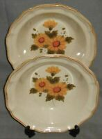 Set (2) 1970s-80s Mikasa SUNNY SIDE PATTERN Vegetable Bowls MADE IN JAPAN