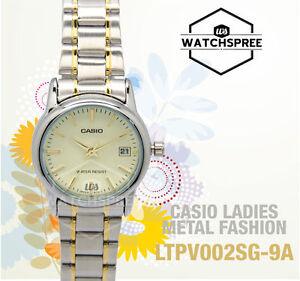 Casio Ladies' Standard Analog Watch LTPV002SG-9A