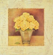 Kathryn WHITE scripted Roses YELLOW poster immagine stampa d'arte 37x37cm-porto franco