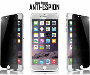 FILM VITRE DE PROTECTION VERRE TREMPÉ ANTI ESPION POUR iPhone  6 7 8 5 6S X Plus