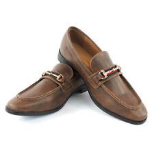 Brown/Cognac Buckle Slip On Moccasins  Men's Dress Fashion Shoes Casual  PUCCI