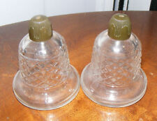 Vintage Clear Glass Bell Salt & Pepper Shakers