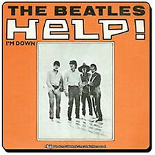 Beatles Help (orange) cork backed drinks mat / coaster   (hb)