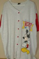 Vintage 1990s Mickey Mouse Unlimited baseball button jersey XL