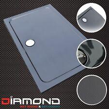 1200x800 BLACK CARBON FIBRE EFFECT Stone Slimline Shower Tray 40mm inc Waste