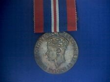 Wwii Great Britain Silver 1939-1946 Defense Medal with Ribbon