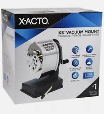 X Acto Ks Manual Vacuum Mount Classroom Pencil Sharpener Blackchrome 1072