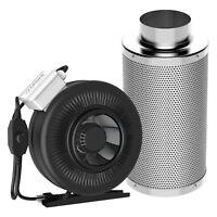 """VIVOSUN 6"""" Air CARBON FILTER FAN COMBO KIT & Inline Duct Fan w/ Speed Controller"""