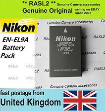 Genuine Original NIKON EN-EL9A DSLR Camera battery, D60 D3000 D5000 D40X EN-EL9