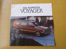 1984 PLYMOUTH VOYAGER VAN SALES BROCHURE CHRYSLER CANADA SPECIFICATIONS