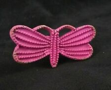Vintage-Look Cast Metal Drawer Cabinet Knob Pull – Bright Pink Butterfly