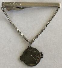 Handsome HICOCK Tie Clip w/ Sterling Silver 925 Horse Head Dangle Medallion AU35