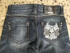 GUESS Premium jeans for women style Daredevil with skull rhinestones size 23