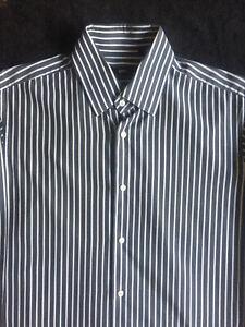 BOSS Herren Hemd Gr. 39 / 15,5 langarm 100% Baumwolle gestreif langarm