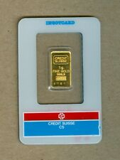 One Gram Gold Credit Suisse Bar 999.9