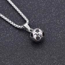 Fußball Anhänger Halskette Damen Herrenschmuck Sportmotiv Titan Modeschmuck DIY